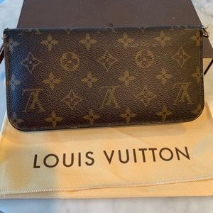💯auth Louis Vuitton bifold monogram wallet large